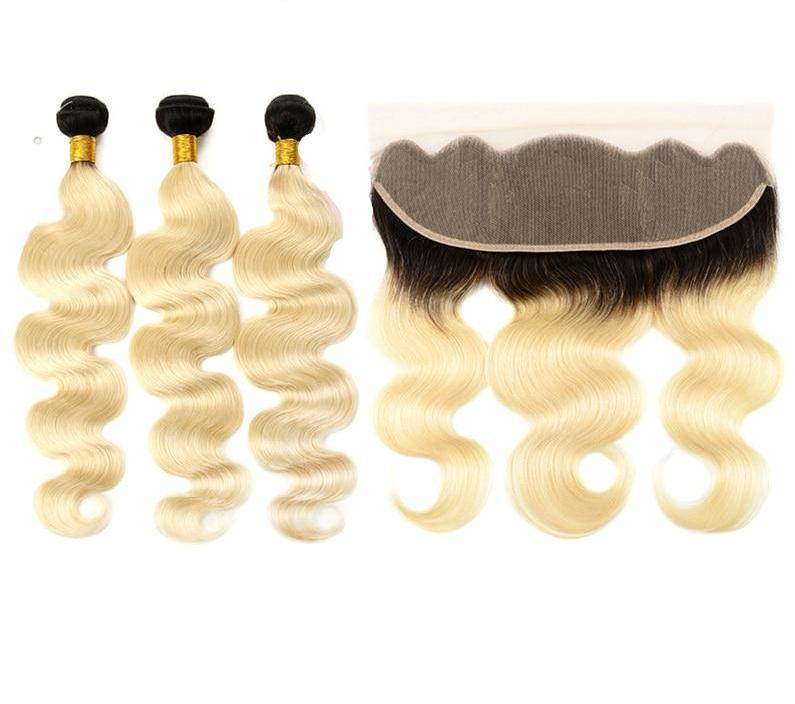 Bella Hair UK - 613 Body wave bundles with Dark Roots and frontal
