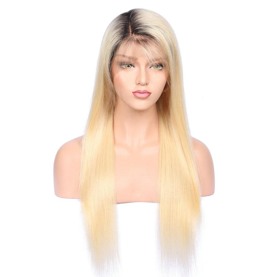 Bella Hair UK - 613 Lace Front Wig with Dark Roots